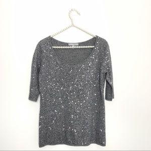 Neiman Marcus Glitter Cashmere Sweater